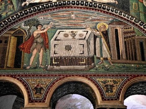 San Vitale: Mosaiken im Chor, rechte Seite (2017)