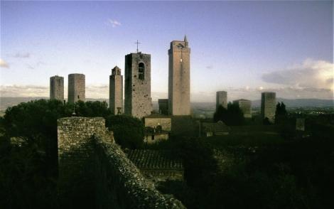 Blick von der Burg auf die Stadt (1991)
