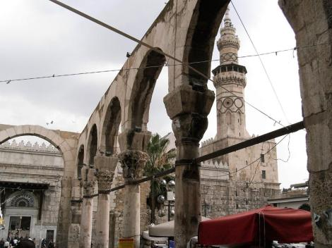 Damaskus: römische Bögen und Omaijadenmoschee (2008)