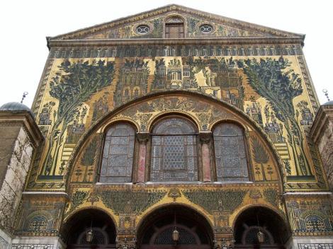 Bild der Omaijadenmoschee Damaskus - Mosaiken des Transepts