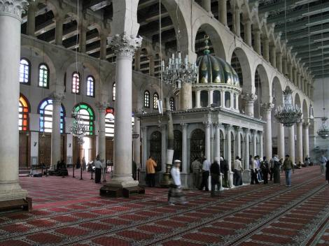 Damaskus: Omaijadenmoschee - Gebetssaal mit Grabmal Johannes des Täufers (2008)