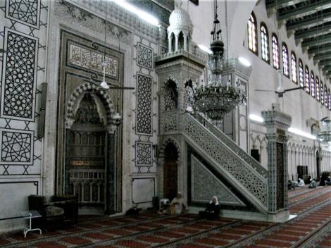 Damaskus: Omaijadenmoschee - Mihrab [Gebetsnische] und Mimbar [Kanzel] (2008)