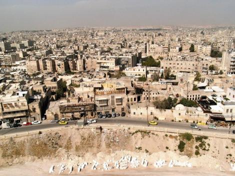 Aleppo: Blick von der Zitadelle auf die Stadt (2008)