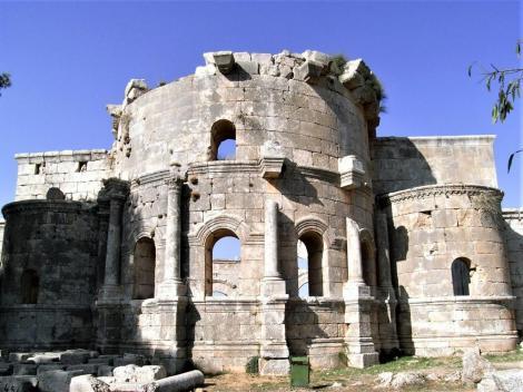 Simeonskloster: Apsiden der Ostbasilika (2008)