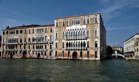 Canal Grande: Palazzo Giustinian und Ca' Foscari (2017)