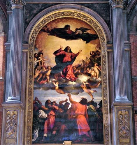 "Kirche Santa Maria dei Frari: ""Mariä Himmelfahrt"" [Assunta] von Tizian im Chor (2017)"