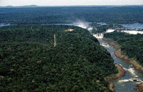 Iguaçu-Fälle von oben (2003)