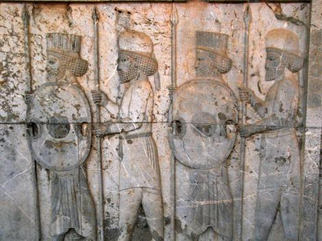 Persepolis: Apadana - Relief an der Osttreppe - Lanzenträger, abwechselnd Perser und Meder (2007)