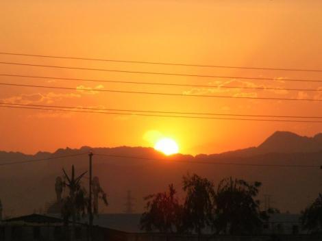 Sonnenuntergang bei Ghom (2007)