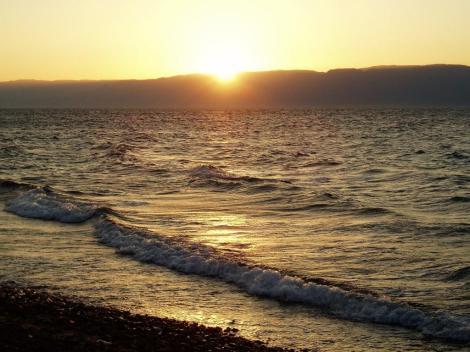 Sonnenuntergang am Golf von Akaba - Blick zum Sinai (2006)