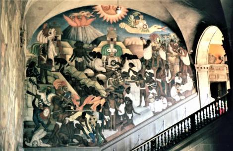 Mexiko-Stadt: Nationalpalast - Wandgemälde (1980)