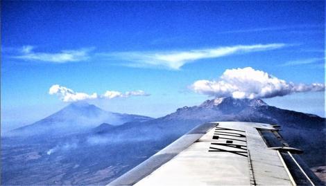 Vulkane Popocatepetl und Iztaccihuatl (1980)