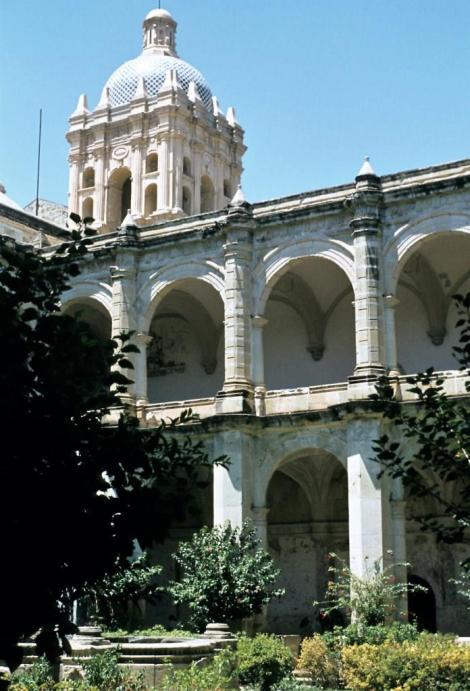 Oaxaca: Dominikanerkloster Santo Domingo - Kreuzgang (1980)