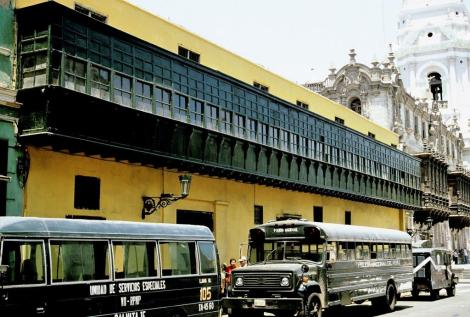 Lima: Casa del Oidor mit ältestem Balkon (2005)
