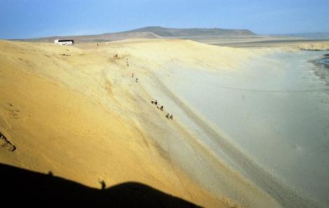"""Küste bei """"La Catedral"""" südlich Paracas (2005)"""