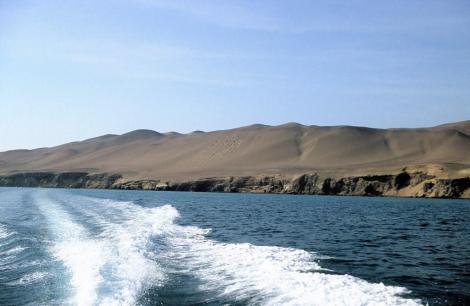 """Halbinsel Paracas: Blick zu """"El Candelabro"""" (2005)"""