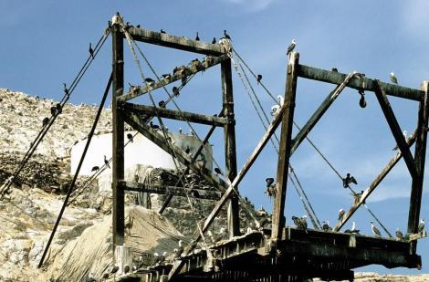Ballestas-Inseln: Ladevorrichtung für Guano-Abbau (2005)