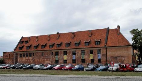 Elbing (poln. Elbląg): rekonstruierter Teil der ehemaligen Burg (2012)