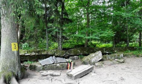 Wolfsschanze bei Rastenburg [poln. Kętrzyn]: Gedenkstätte am Ort der Attentatsbaracke vom 20. Juli 1944 (2012)
