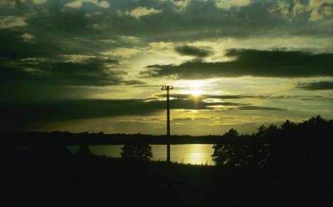 Abendstimmung in Masuren - zwischen Rastenburg [poln. Kętrzyn] und Sensburg [poln. Mrągowo] (1979)