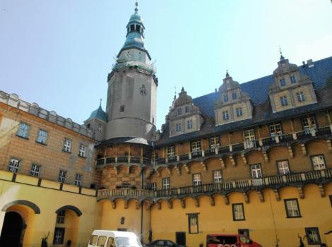 Oels [poln. Olesnica]: Schloss - Innenhof (2014)