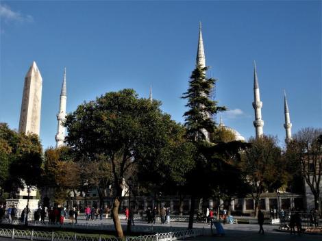 Hippodrom: Theodosius-Obelisk und Blaue Moschee (2014)