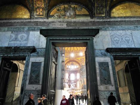 Hagia Sophia: Innerer Narthex - Kaisertor (2014)