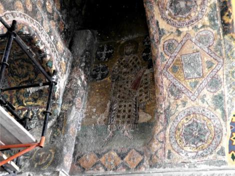 Hagia Sophia: Nordgalerie - Mosaik des Kaisers Alexandros I. (2014)