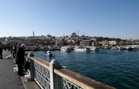 Blick von der Galata-Brücke Richtung Süleyman-Moschee (2014)