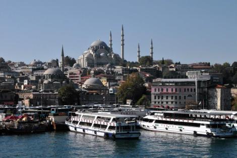 Blick zur Rüstem Pascha-Moschee und Süleyman-Moschee (2014)