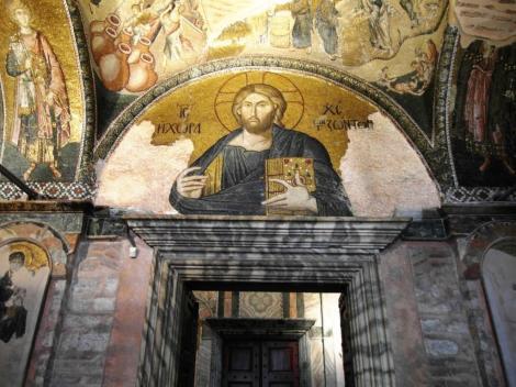 Chora-Kirche: Äußerer Narthex [Exonarthex] 3. Joch - Christus Pantokrator (2014)