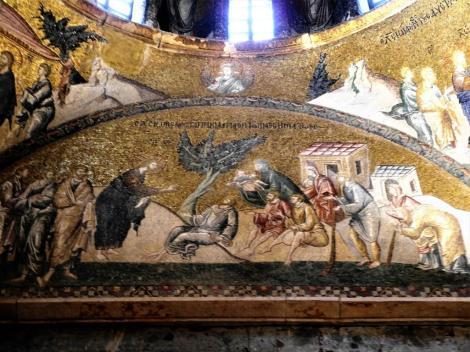 Chora-Kirche: Innerer Narthex [Esonarthex] 4. Joch - Christus heilt viele Kranke (2014)