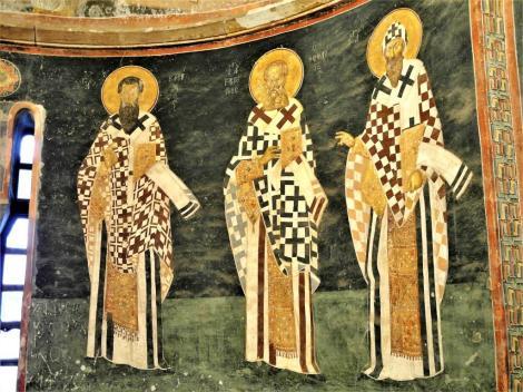 Chora-Kirche: Parekklesion [Seitenkapelle] - Apsis mit Kirchenvätern (2014)