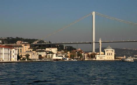 Ortaköy-Moschee und Borporusbrücke (2014)