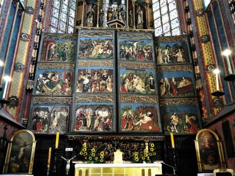 Krakau: Marienkirche - Marienaltar von Veit Stoß in geschlossenem Zustand (2014)