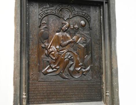 Krakau: Dominikanerkirche - Grabplatte des Filip Buonaccorsi von Veit Stoß (2014)