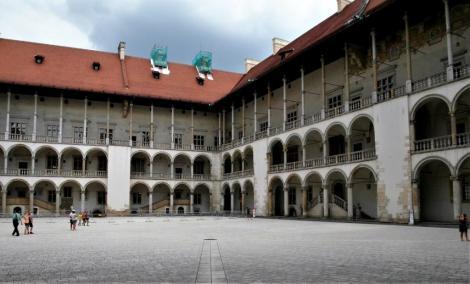 Krakau: Innenhof des Schlosses auf dem Wawel (2014)