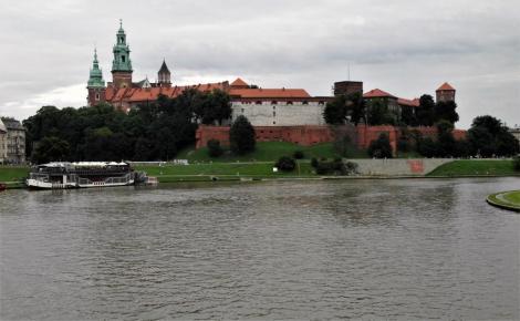 Krakau: Blick über die Weichsel zum Wawel (2014)