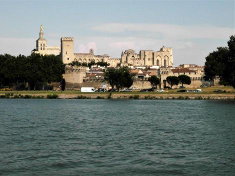 Avignon: Blick zum Papstpalast (2013)