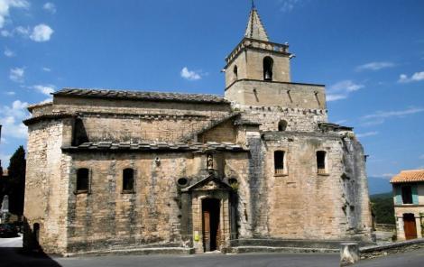 Venasque: romanische Kirche Notre Dame (2013)