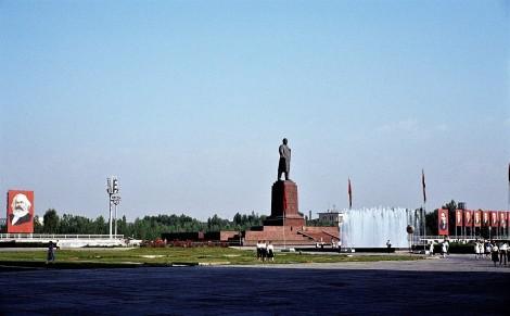 Taschkent: Leninplatz mit Lenin-Denkmal (1984)