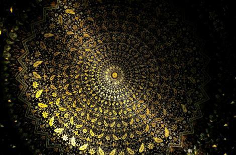 Samarkand: Kuppel der Moschee in der Medrese Tillja Kari (1984)