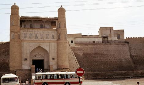 Buchara: Portal der Festung Ark [einstiger Regierungssitz und Palast des Herrschers von Buchara] (1984)