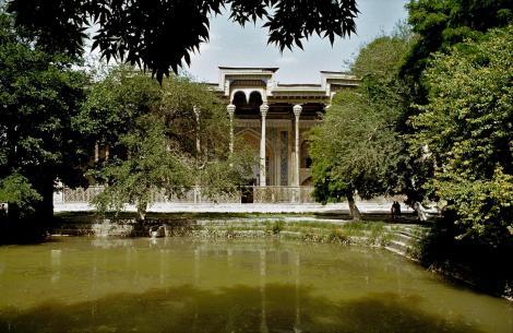 Buchara: Moschee Bolo Chaus - Blick über den Chaus (1984)