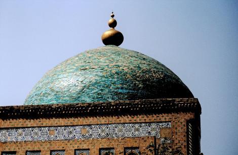 Chiwa: Kuppel des Mausoleums Pahlawan Mahmud (1984)