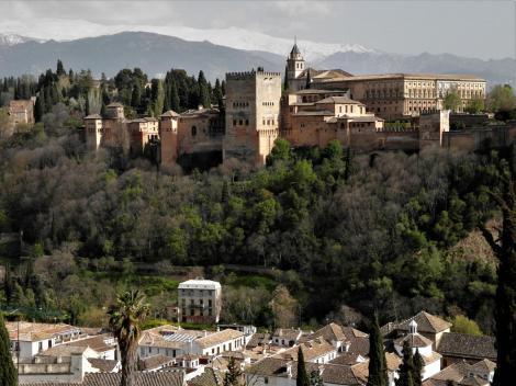 Blick vom Mirador San Nicolas zu den Palästen der Alhambra (2018)