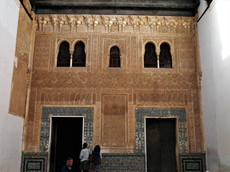 Alhambra: Südfassade des Goldenen Zimmers (2018)