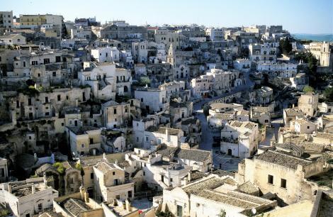 Matera [in der Basilicata]: Blick von der Kathedrale (2001)