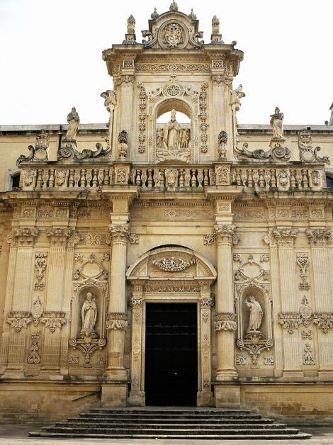 Lecce: Dom - Prunkportal an der Nordfassade (2001)