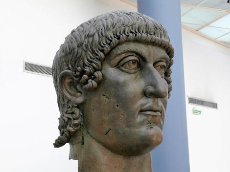 Kapitolinische Museen: Bronzestatue Konstantins des Großen (2013)